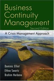 Cover of: Business Continuity Management
