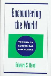Cover of: Encountering the world