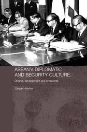 Cover of: ASEAN's Diplomatic and Security Culture
