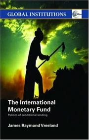 Cover of: The International Monetary Fund
