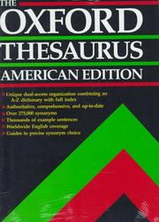 Cover of: The Oxford thesaurus | Laurence Urdang
