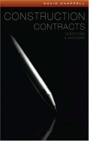 Cover of: Construction Contracts Questions and Answers