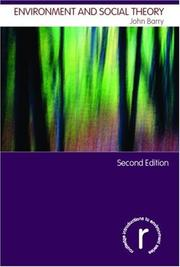 Cover of: Environment and Social Theory (Routledge Introductions to Environment S.)