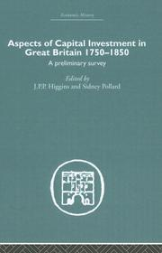 Cover of: Aspects of Capital Investment  in Great Britain 1750-1850