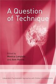 Cover of: A Question of Technique