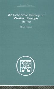 Cover of: An Economic History of Western Europe