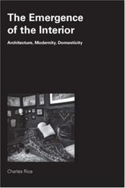 Cover of: Emergence of the Interior