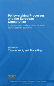 Cover of: Policy-making processes and the European Constitution |
