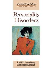 Cover of: Personality Disorders (Clinical Psychology: a Modular Course )