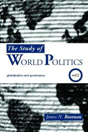 Cover of: Study of World Politics:  Volume II