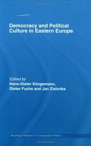 Cover of: Democracy and Political Culture in Eastern Europe