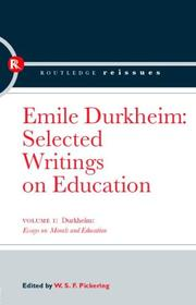 Cover of: Durkheim: Essays on Morals and Education