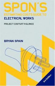 Cover of: Spon's Estimating Guide to Elictrical Works