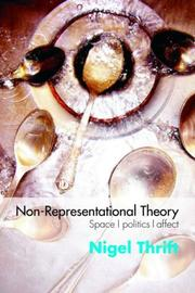 Cover of: Non-Representational Theory