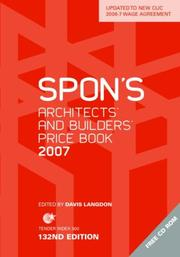 Cover of: Spon Architects and Builder Priice Book 2007