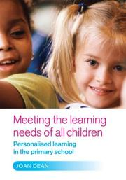 Cover of: Meeting the learning needs of all children