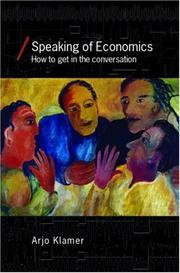 Cover of: Speaking of Economics (Economics As Social Theory)
