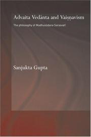 Cover of: Advaita Vedanta And Vaisnavism