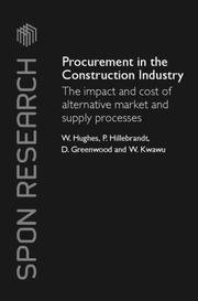 Cover of: Procurement in the construction industry |