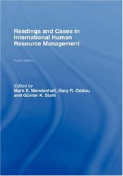 Cover of: Reading and Cases in International Human Resource Management | M. Mendenhall