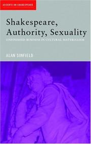 Cover of: Shakespeare, Authority, Sexuality