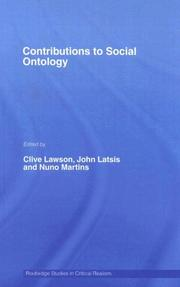 Cover of: Contributions to Social Ontology