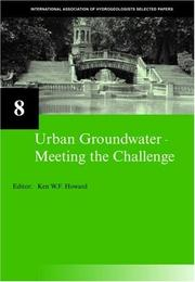 Cover of: Urban Groundwater | Ken W.F. Howard