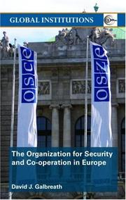 Cover of: The Organization for Security and Co-operation in Europe (Routledge Global Institutions)