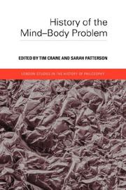 Cover of: History of the Mind-Body Problem