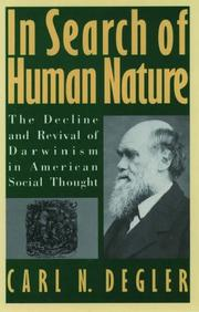 Cover of: In Search of Human Nature | Carl N. Degler