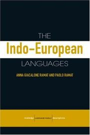 Cover of: The Indo-European Lanagues