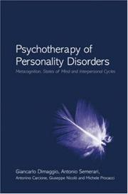 Cover of: Psychotherapy of Personality Disorders