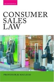 Cover of: Consumer Sales Law
