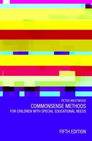 Cover of: commonsense Methods for Children with Special Educations Needs