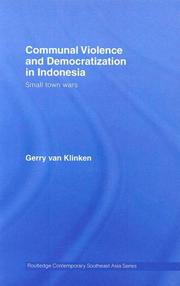Cover of: Communal Violence and Democratization in Indonesia
