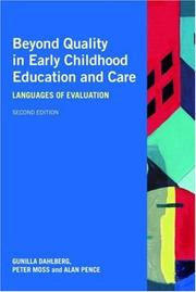 Cover of: Beyond Quality in Early Childhood Education and Care