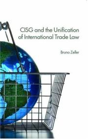 Cover of: CISG and Unification of International Trade Law | Fountoulakis &