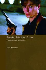 Cover of: Russian Television Today: Primetime Drama and Comedy (Routledge Contemporary Russia and Eastern Europe Series)