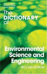 Cover of: The Dictionary of Environmental Science and Engineering | James Pfafflin