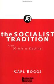 Cover of: The socialist tradition