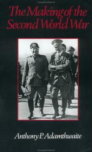 Cover of: The Making of the Second World War