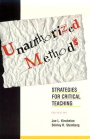 Cover of: Unauthorized methods