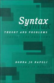 Cover of: Syntax: Theory and Problems
