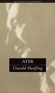 Cover of: Ayer | Oswald Hanfling