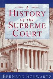 Cover of: A history of the Supreme Court