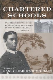 Cover of: Chartered Schools | Nancy Beadie