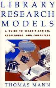 Cover of: Library research models