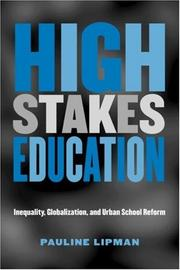 Cover of: High Stakes Education