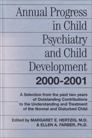 Cover of: Annual Progress in Child Psychiatry and Child Development 2000-2001 (Annual Progress in Child Psychiatry and Child Development)