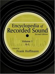 Cover of: Encyclopedia of recorded sound | edited by Frank Hoffmann.